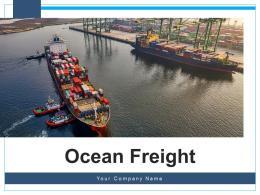 Ocean Freight Global Transport Secured Shipment Representing Worldwide Transportation Illustrating