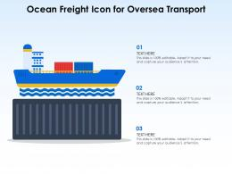 Ocean Freight Icon For Oversea Transport