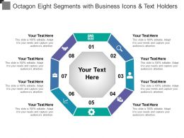 Octagon Eight Segments With Business Icons And Text Holders