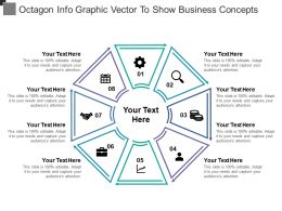 Octagon Info Graphic Vector To Show Business Concepts