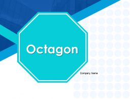 Octagon Octagons With Icons For Business Strategy