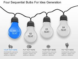 od Four Sequential Bulbs For Idea Generation Powerpoint Template