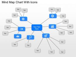 Od Mind Map Chart With Icons Powerpoint Template