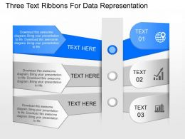 od Three Text Ribbons For Data Representation Powerpoint Template