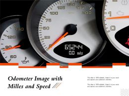 Odometer Image With Milles And Speed