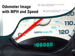 Odometer Image With Mph And Speed