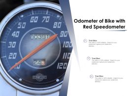 Odometer Of Bike With Red Speedometer