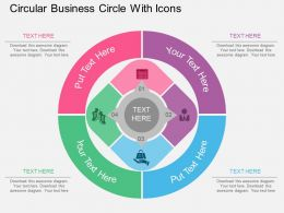 oe Circular Business Circle With Icons Flat Powerpoint Design