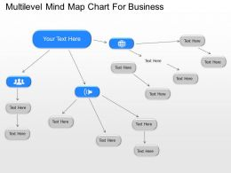 Oe Multilevel Mind Map Chart For Business Powerpoint Template