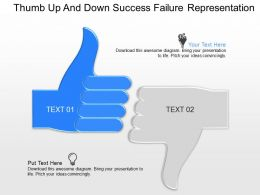 oe Thumb Up And Down Success Failure Representation Powerpoint Template