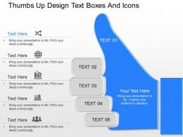 of Thumbs Up Design Text Boxes And Icons Powerpoint Template