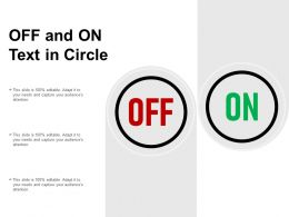 Off And On Text In Circle