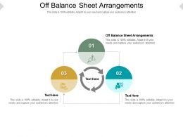 Off Balance Sheet Arrangements Ppt Powerpoint Presentation Infographic Template Vector Cpb