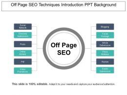Off Page Seo Techniques Introduction Ppt Background
