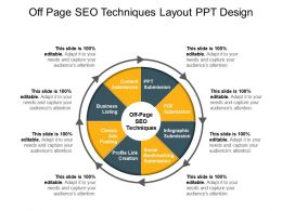 Off Page Seo Techniques Layout Ppt Design