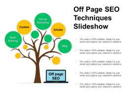 Off Page Seo Techniques Slideshow Ppt Example