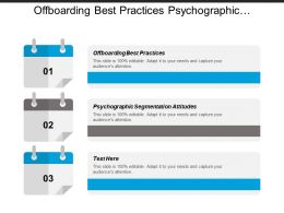 Offboarding Best Practices Psychographic Segmentation Attitudes App Service Chain Cpb