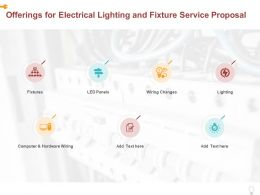 Offerings For Electrical Lighting And Fixture Service Proposal Ppt Powerpoint Presentation Layouts Icon
