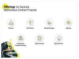Offerings For Electrical Maintenance Contract Proposal Ppt Powerpoint Outline