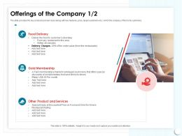 Offerings Of The Company Doorstep Area Ppt Powerpoint Presentation Model Summary