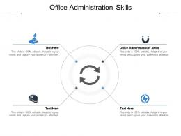Office Administration Skills Ppt Powerpoint Presentation Professional Structure Cpb