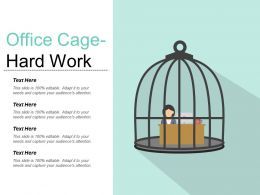 Office Cage Hard Work Powerpoint Images