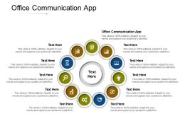 Office Communication App Ppt Powerpoint Presentation Infographics Visuals Cpb
