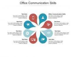 Office Communication Skills Ppt Powerpoint Presentation Ideas Outfit Cpb