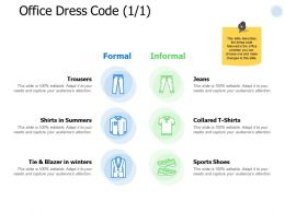 Office Dress Code Management Ppt Powerpoint Presentation Professional Show