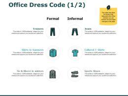 Office Dress Code Marketing Ppt Powerpoint Presentation Professional Grid