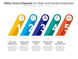 Office Dress Etiquette For Male And Female Employees