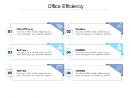 Office Efficiency Ppt Powerpoint Presentation Icon Slides Cpb