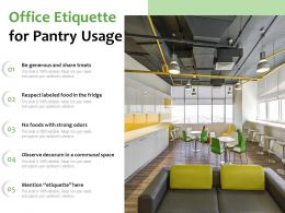 Office Etiquette For Pantry Usage