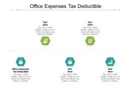 Office Expenses Tax Deductible Ppt Powerpoint Presentation Outline Cpb