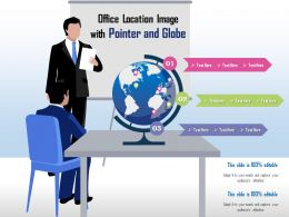 Office Location Image With Pointer And Globe