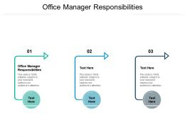 Office Manager Responsibilities Ppt Powerpoint Presentation Gallery Rules Cpb