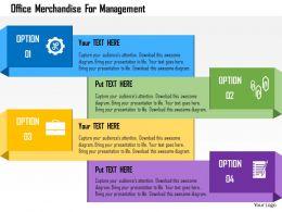 Office Merchandise For Management Flat Powerpoint Design
