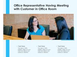 Office Representative Having Meeting With Customer In Office Room