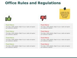 Office Rules And Regulations Icons Ppt Powerpoint Presentation Icon Layout