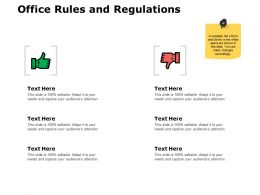 Office Rules And Regulations J190 Ppt Powerpoint Presentation File Layout