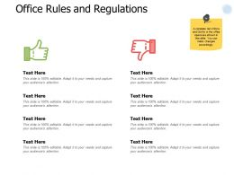 Office Rules And Regulations Marketing Ppt Powerpoint Presentation Portfolio Summary