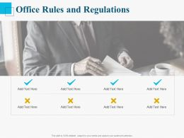 Office Rules And Regulations Ppt Powerpoint Presentation Layouts Ideas