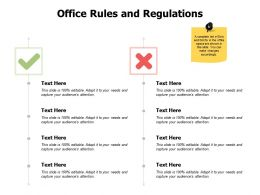 Office Rules And Regulations Strategy J213 Ppt Powerpoint Presentation File Images