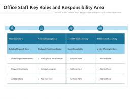 Office Staff Key Roles And Responsibility Area