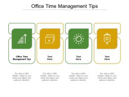 Office Time Management Tips Ppt Powerpoint Presentation Model Background Images Cpb
