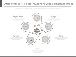 Office Timeline Template Powerpoint Slide Background Image