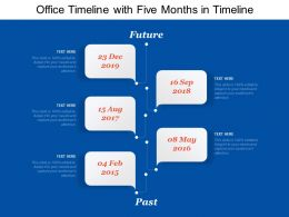 Office Timeline With Five Months In Timeline