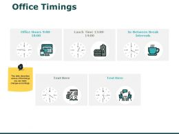 Office Timings Planning Ppt Powerpoint Presentation Portfolio Example Topics