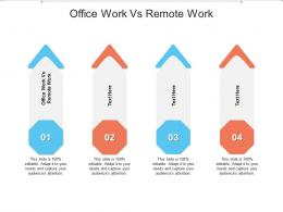 Office Work Vs Remote Work Ppt Powerpoint Presentation Icon Layout Ideas Cpb