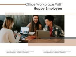 Office Workplace With Happy Employee